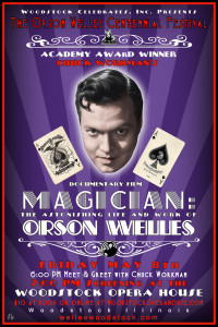 Welles Magician purple poster LORES